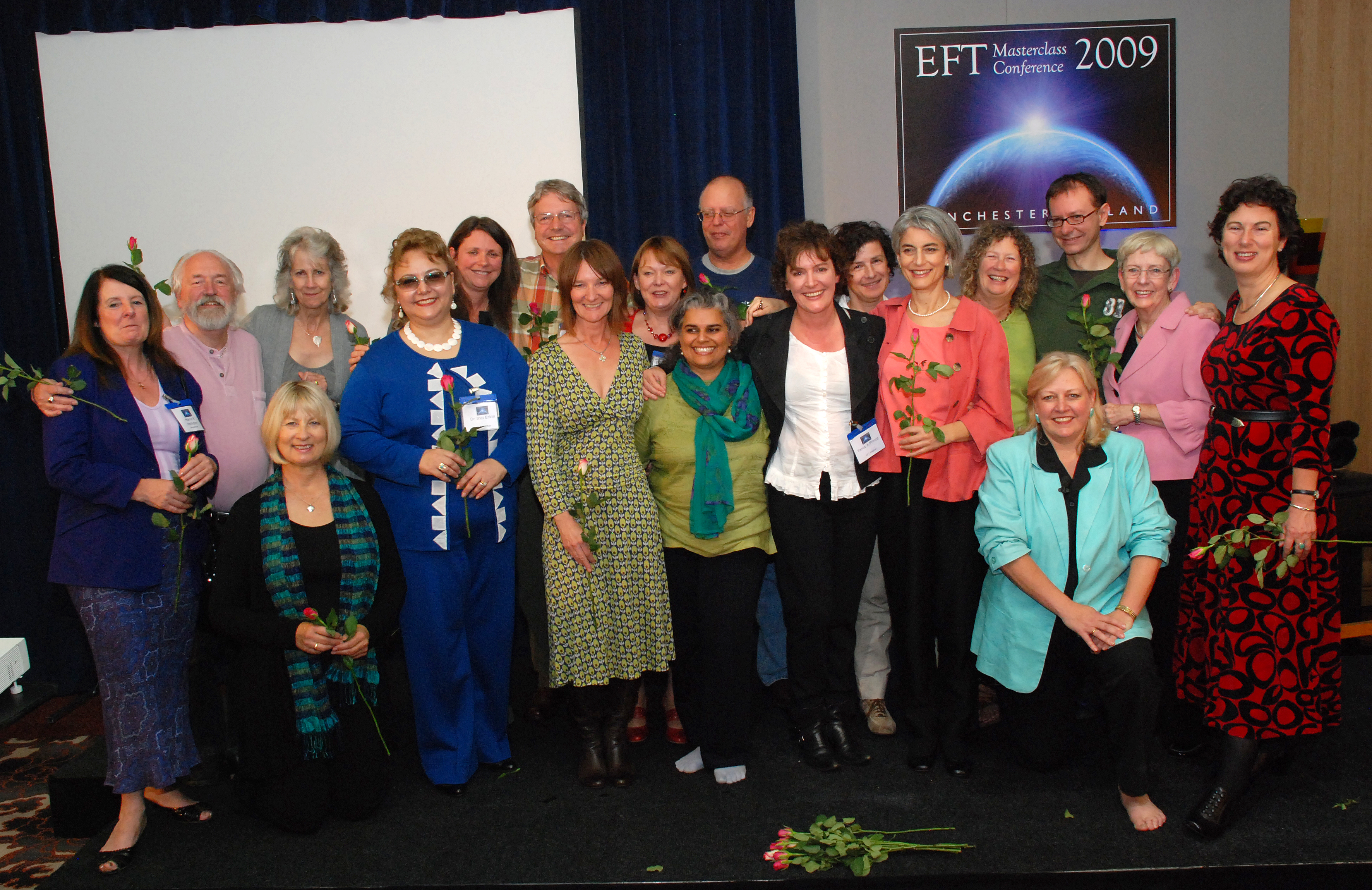 EFT Master, Tania A.Prince with other EFT Masters during the EFT Masterclass Conference 2009